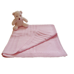 Wholesale 100 cotton classics square sweater knit baby blanket