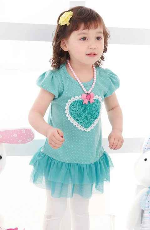 Cute Baby Girl in Blue Dress Baby Dress/ Baby Skirt/ Girls'