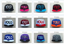 Wholesale Paypal Accepted YOLO Caps Hats Snapback Hats Baseball Neon Hats Trucker Hats Custom Snapbacks