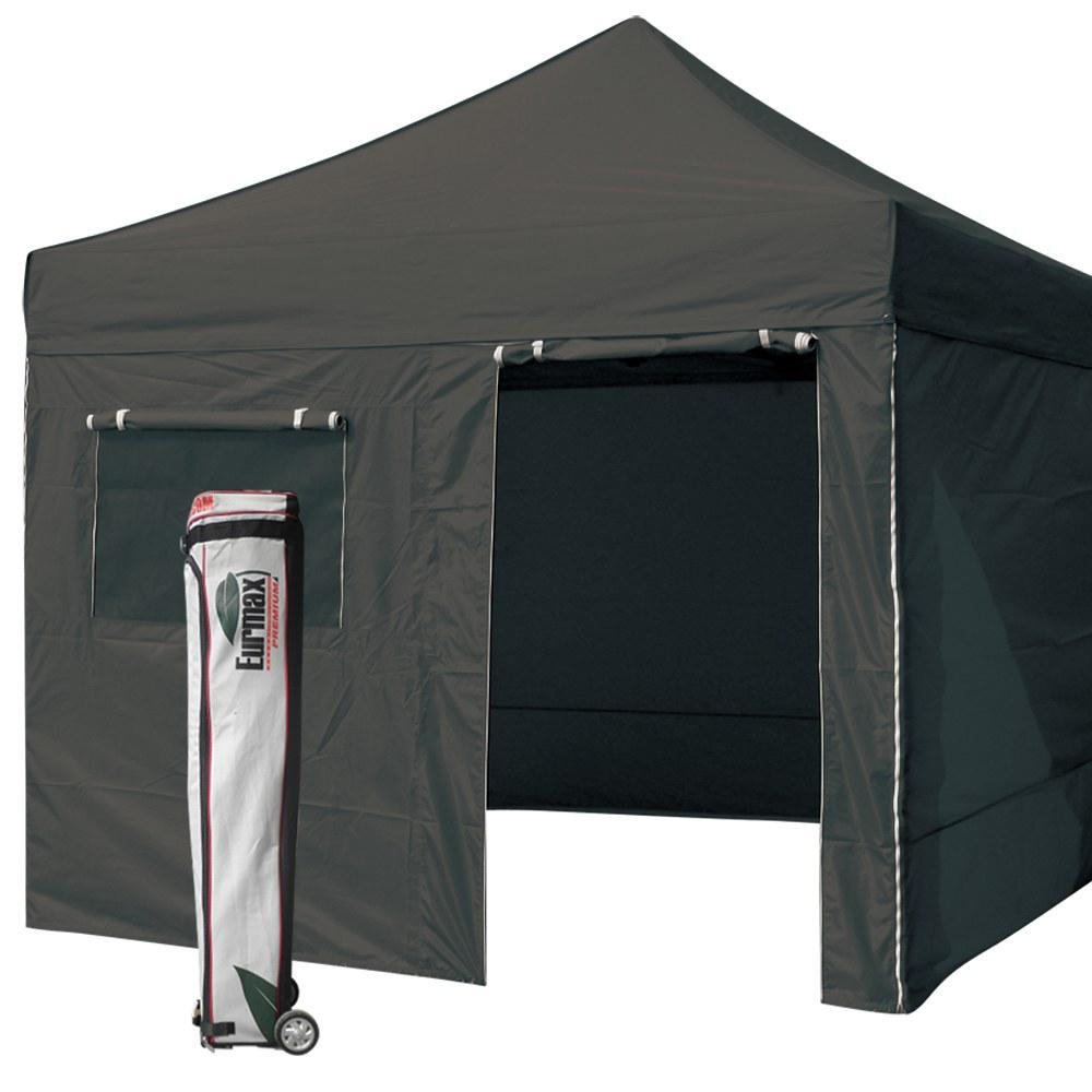 Ez Up Canopy 10x10 : New eurmax black canopy commercial ez pop up