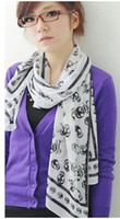 Wholesale Fashion Soft Wrap Scarf Skull Scarf Chiffon Shawl Long Silk Super Pretty Style