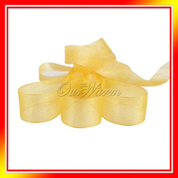 Wholesale Gold Yards quot mm Organza Sheer Ribbon Craft Bow Wedding Supply Decor OGB GLD