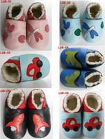 Wholesale soft sole leather baby Boots shoes Baby girl unisex slippers Winter Walking Shoes Zoo Newborn T