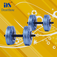 Wholesale commercial dumbbell set Water Poured Dumbbell have RoHS approved pairs
