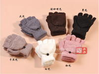 Wholesale Hot high quality fashion gloves female winter Korea cute multifunctional half refers clamshell warmX