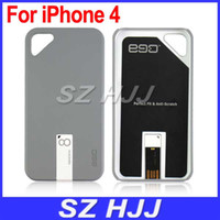 Plastic For Apple iPhone  Hard Case For iPhone4 4S Plastic Ultra Slim Cover With Detachable 4GB USB Flash Drive
