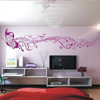 Wholesale Fashion Music Butter Wall sticker cm Home Decor Mural Decal Art D