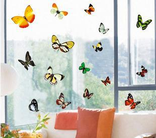 Wholesale Cartoon Butterfly Home Room Decor Removable Wall Sticker .