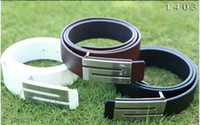 Wholesale Hot men s Belts Fashion Stylish Faux Leather Premium S Shape Metal Buckle Belt