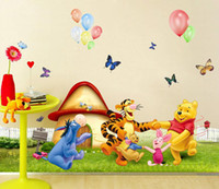 Wholesale Weenie bear children Home room Decor Removable Wall Sticker Decal Decoration B40062