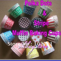 Wholesale MIX COLORS round Paper muffin cases cake cups cupcake cases bake cup cupcake wrappers