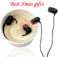 ¡¡¡Promoción!!! Helado Estilo de la taza Auriculares intrauditivos con regalo de Navidad del Mic Auriculares Auriculares por EMS