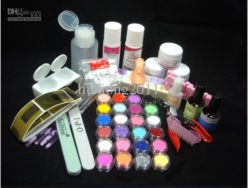 Wholesale Base Coat - Buy - Full NAIL ART KIT 24 Acrylic Powder