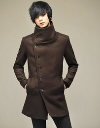 Wholesale New men s British style Trench Coats fashion cotton Dust coat Single breasted easy care coat