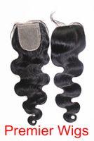 "14 Natural Color 3.5 Brazilian Virgin Hair Body Wave 14""-20"" Natural Color 3.5x4"" Silk Base Lace Closure Hair Extensions"
