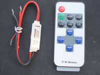 Wholesale RF Wireless LED Strip Switch Single Color LED Controller mini with led lamp bulb light R106 D