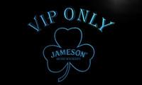 Wholesale LA680 TM VIP Only Shamrock Jameson Neon Light Sign Advertising led panel