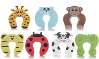 Wholesale Door Stopper Baby safety products baby safety gate card Animal model children s cartoon door card
