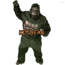 Wholesale New Simian Super Gorilla Mascot Adult Costume Cartoon Party Outfits Fancy Dress Ideas