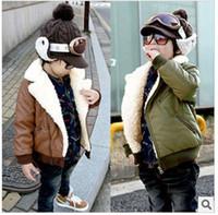 Wholesale Children autumn and winter boys cute plush imitation sheepskin warm jacket coat dandys