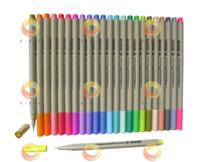 Wholesale Color Sketch Fineliner Set A hotsale Fine Liner Pens mm marker water based ink