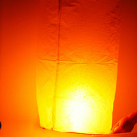 Wholesale Cylinder Shape Fire Sky Chinese Lanterns Paper Light White Ship From USA