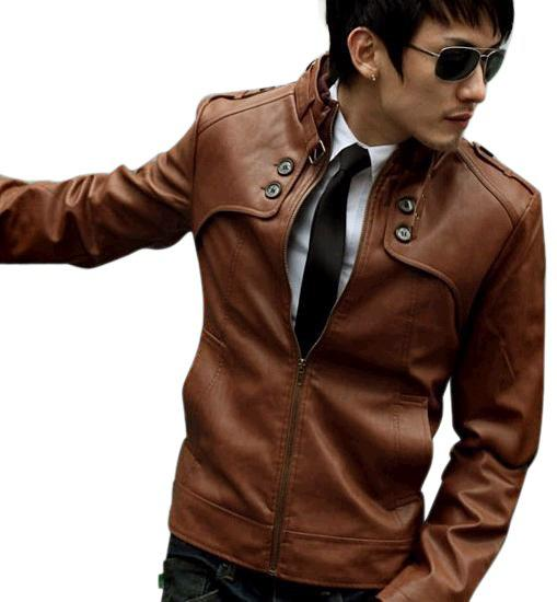 2013 Fashion Classic Men'S Pu Leather Coat Jacket 3 Sizes Black ...