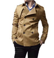 Wholesale MENS CASUAL DOUBLE BREASTED TRENCH COAT SLIM FIT WIND COAT FOR MAN P067