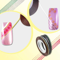 Wholesale Striping Tape Line Color Striping Tape Line Nail Art Decoration Sticker Professio bent curve