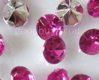 Wholesale 10 mm Fuchsia Acrylic Diamond Confetti Wedding Party Favor Table Scatters Crystal Decoration