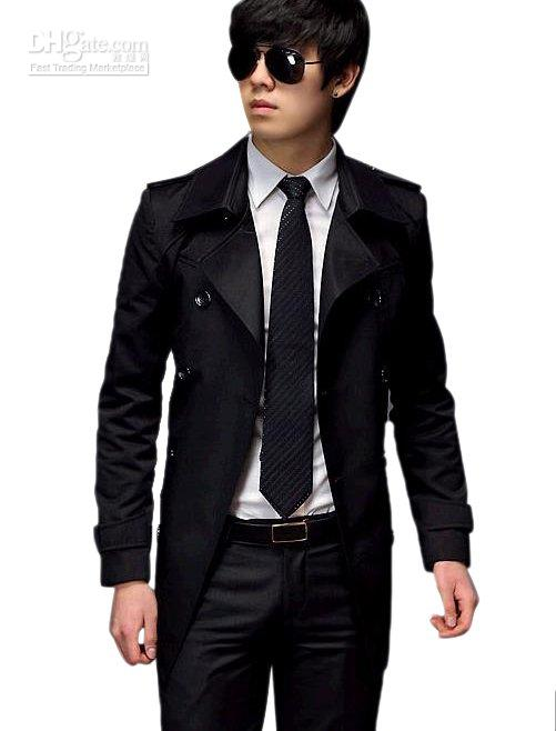Best Quality Mens' Casual Double Breasted Trench Coat Slim Fit, Two Colors, M,L,Xl, P066 At Cheap Price, Online Trench Coats | Dhgate.Com