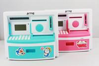 Coin Purses atm saving bank - freeshipping ATM shape saving box money bank coin box child toy piggy bank mult function coin box