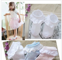 Wholesale Summer Thin Cotton Socks Fishnet Stockings Socks Cotton Princess Lace Children s Socks