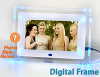 Wholesale 7 inch Digital Photo Frame Photo Music Video Player Calendar Clock Christmas Gift