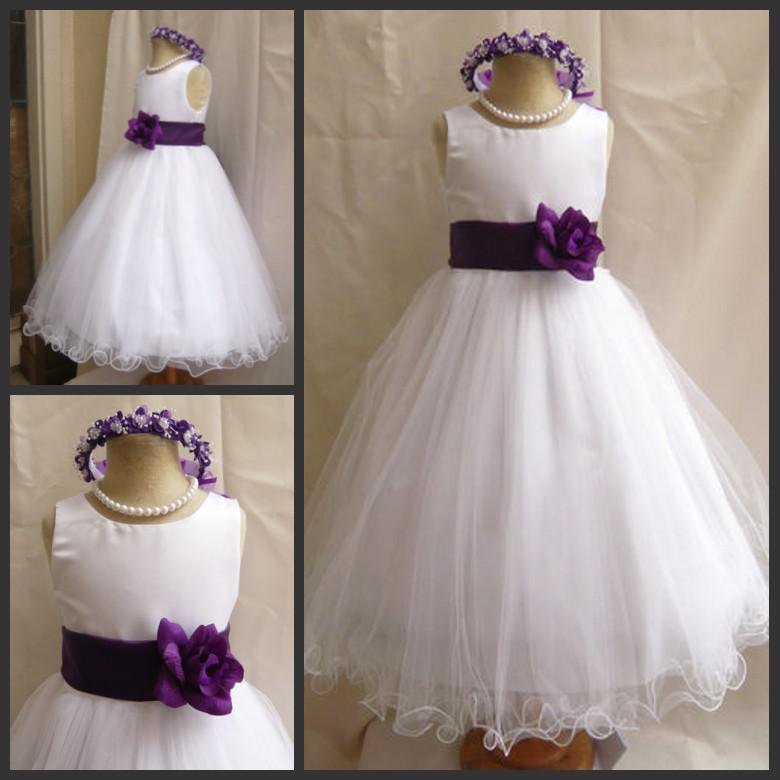 Purple and white tulle flower girl dresses fashion dresses purple and white tulle flower girl dresses mightylinksfo
