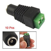 Wholesale 10pcs x5 mm DC Power Female Plug Jack Adapter Connector Socket for CCTV led strip by AITTECH