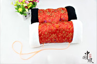 Wholesale portable chinese national hand warmer throw pillow with traditional pattern dhl