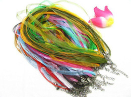 100 strings ribbon necklace Voile cord 18""