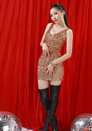 Wholesale Girls Full Sequins Hot Dresses Lady Party Dresses with full beads Woman stretch Dresses