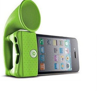 Wholesale 30pcs Horn Stand holder for iphone s loudSpeaker no external power Environmental Protection