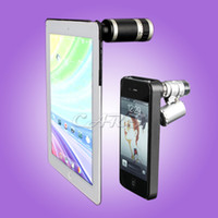 Wholesale Super Zoom for New iPad iPhone x Zoom Camera Lens Telescope and Fish Eye Lens Microscopes Cases