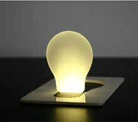 Wholesale Novelty Items Funny LED flat foldable Pocket card Wallet Light credit card mini