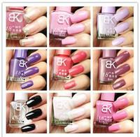 Wholesale Nail art Mixed Colors Fashion Glitter Luminous Nail Polish Shine Color fast dry Lacquer Vanish ml