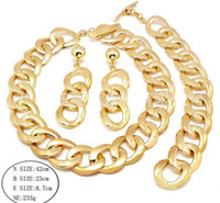 Golden Round Simplicity Fashion Jewelry Sets Luxury Alloy je...