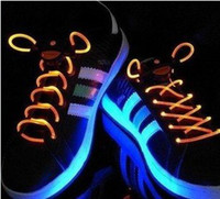Wholesale LED Flashing shoelace light up shoe laces Laser Shoelaces pairs dhl