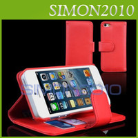 For Apple iPhone Leather Apple iphone 5 5G 5th Wallet ID Credit Card Stand Hold Stander PU Leather Case Cover Pouch for iPhone 5 5G 5th CASE colorful