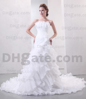 Sexy wedding dresses 2011 - 2011 Sexy Strapless Sheath Wedding Dresses Exquisite Chiffon Bridal Gown PR238
