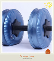 Wholesale Dumbbell sale Plastic Dumbbell Water Poured Dumbbell have RoHS approved pairs