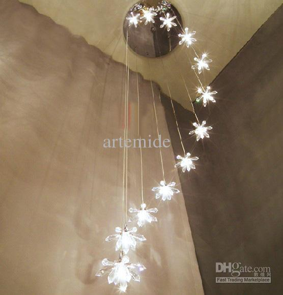 Modern Minimalist Asfour Crystal Chandelier Living Room Stairs – Star Chandeliers