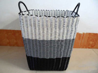 Wholesale durable plastic knit Laundry basket dirty clothes basket dirty garment basket storage basket